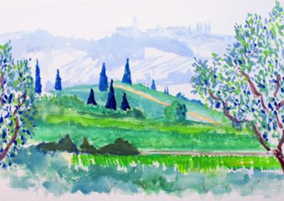 Olives trees near Lake Garda, Italy