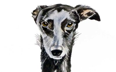 Painting Alex's Lurcher, Isla