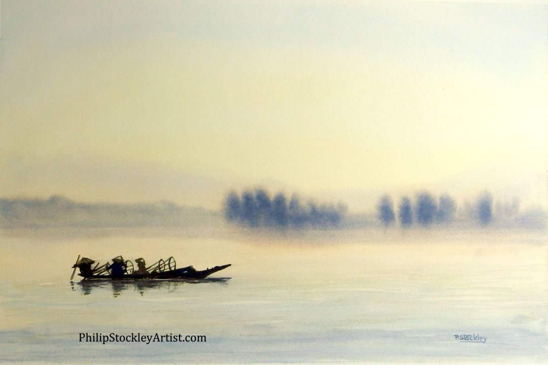 Fishermen in the early morning, Lake Inle, Myanmar