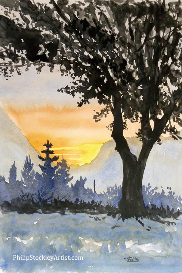 Tree and sunset, Turkey